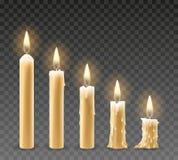 Płonące świeczki Ustawiać ilustracji