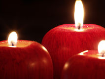 Jabłczane świeczki obraz stock