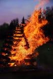 Płonące czarownicy - duży ogień Obrazy Royalty Free