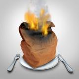 Płonące kalorie pojęcie ilustracji