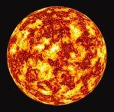 płonące słońce Fotografia Stock