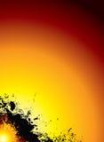 płonące słońce Obraz Royalty Free