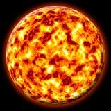 płonące słońce ilustracji