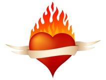 płonące serce Fotografia Stock