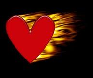 płonące serce royalty ilustracja
