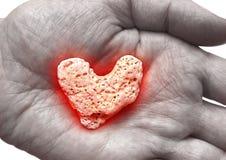 płonące serce Zdjęcie Stock