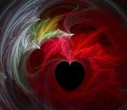 płonące serce Obrazy Stock