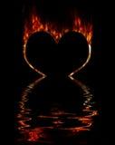 płonące serce Zdjęcie Royalty Free
