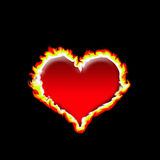 płonące serce Fotografia Royalty Free