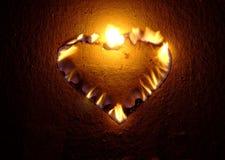 płonące serce Zdjęcia Stock