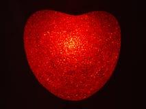 płonące serce z tworzywa sztucznego Zdjęcie Royalty Free