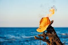 Płonący łozinowy kapelusz Obrazy Royalty Free