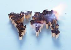 Płonący świat zdjęcie stock