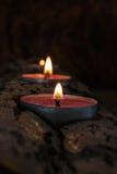 płonący candlestick Fotografia Royalty Free