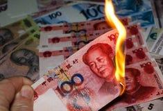 Płonący chińczyk Juan fotografia stock