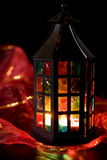 płonący ciemny lampion Obrazy Royalty Free