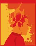 płonący człowiek Zdjęcia Stock