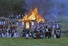płonący dom Zdjęcie Royalty Free
