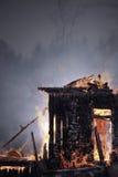 płonący dom Fotografia Stock