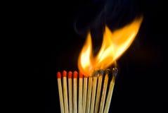 płonący dopasowanie Obraz Royalty Free