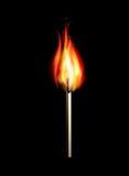 Płonący dopasowanie na czarnym tle dla projekta Royalty Ilustracja