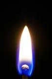 Płonący dopasowanie w zmroku Zdjęcia Royalty Free