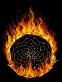 Płonący dreamcatcher Fotografia Stock