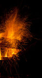 Drewniany ogień Fotografia Stock