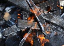 Płonący drewno Fotografia Royalty Free