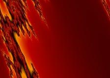 Płonący Fractal tło obraz royalty free