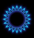 płonący gaz royalty ilustracja