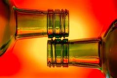 Płonący Gorący abstrakt 2 butelki zdjęcia royalty free