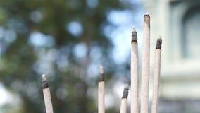 płonący kadzidło zdjęcie wideo