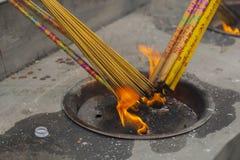 płonący kadzidło obraz stock