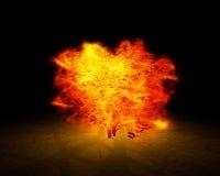 płonący krzew royalty ilustracja