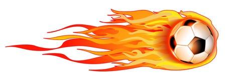 płonący kulowego piłka nożna ilustracyjny white Zdjęcia Stock