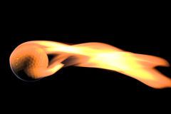 płonący kulowego w golfa zdjęcia royalty free