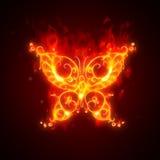 płonący motyl Obrazy Royalty Free