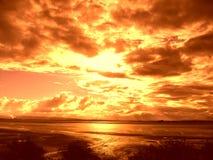 płonący niebo Fotografia Royalty Free