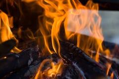 płonący ogień zdjęcia royalty free