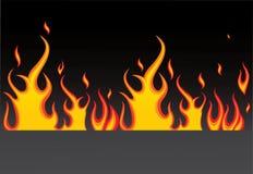 płonący ogień ilustracji