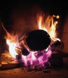 płonący ogień Obraz Stock