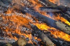 płonący ogień Fotografia Royalty Free