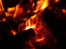 płonący ogień gorąco Fotografia Stock