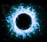 Płonący okrąg obraz stock