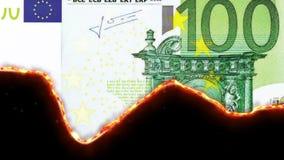 płonący pieniądze ilustracji