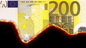 płonący pieniądze royalty ilustracja