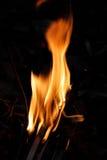 Płonący pożarniczy płomień obrazy royalty free