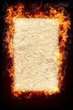 płonący pożarniczy przedmioty Fotografia Royalty Free