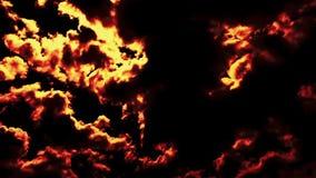 Płonący podmuchowy piekło ogień chmurnieje czasu upływu epopeję filmową zbiory